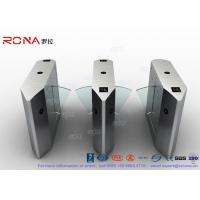 Best Electric 316 SS Security Flap Barrier Gate Turnstile Gate With IR Sensor 13.56mhz Card Reader wholesale