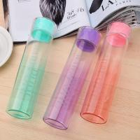 Best 370ml Multi Function Colored Glass Water Bottles With Lid Food Grade PP Lid wholesale