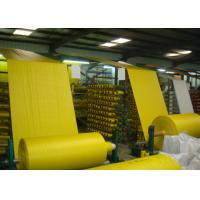 China Woven Polypropylene Cloth Roll , Yellow Offset Print Woven PP Fabric UV Treated on sale