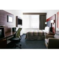 Best Hotel Bedroom Furniture Mahogany wood headboard Bed and Fixed Millwork TV Wall Panel with Reading desk wholesale