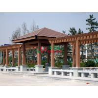 Best WPC Prefabricated Garden Pergola Kits Free Standing Color Stability Weather Resistant wholesale