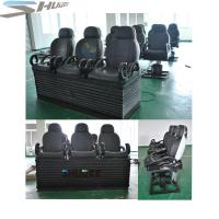 Best Newest 3 DOF Pneumatic / Hydraulic Black Motion Theater Chair With Dustproof Plastic Cover wholesale