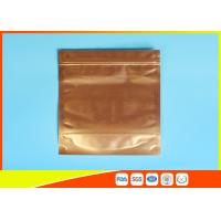 Buy cheap Plastic Zipper Coffee Packaging Bags , Three Layer Laminated Aluminium Bag For Tea from wholesalers