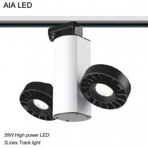 Best 3 Lines interior 2head adjustable 2X18W 36W LED Track lighting wholesale