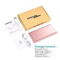 Best Rose Gold Portable Charger Dual USB Power Bank High Capacity External Battery Pack wholesale