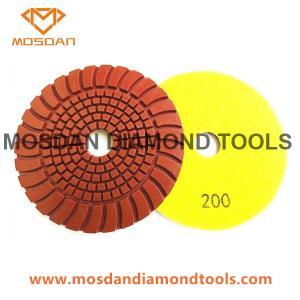 Best 4'' Hybrid Sunflower Copper Resin Polishing Pads for Marble Concrete wholesale