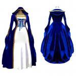 Best Medieval Dress Wholesale XXS to XXXL Cosplaydiy Blue&White Victorian Medieval Renaissance Dress Cosplay Costume wholesale