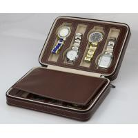 Best 8 Slots Brown Watch Display Box Elegant Appearance For Home Jewelry Decoration wholesale
