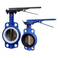Quality Manual Operated Wafer valve butterfly Ductile Iron GGG40 Body wholesale