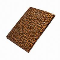 Best Leopard Print Leather Case for iPad 2/3, Made of Genuine Leather, Customized Designs, Logos Accepted  wholesale