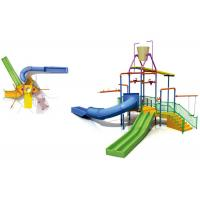 Best Kids Water Park Construction Water House Structures With Climb Net / Spray wholesale