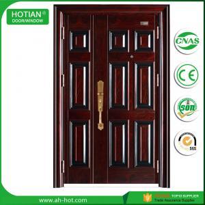 Best Indian House Gate Designs Steel Door Front Security Doors Single and Half Metal Skin Door wholesale