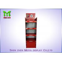 Best Recycled Cocktail Pop Custom Cardboard Displays , Red Free Standing Cardboard Displays wholesale