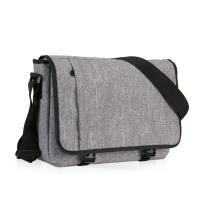 15 Inch Laptop Messenger Bag Grey Color , Outdoor Messenger Bags For College Students