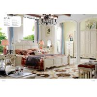 China Shen Zhen Wardrobe Chest Of Drawers Bedroom Set Furniture Solid Wood French Bed on sale