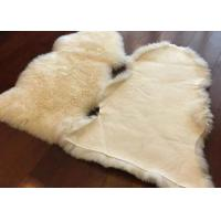 Best Long Hair Wool Real Sheepskin Rug With Natura White Sheep Shape 60 X 90cm wholesale