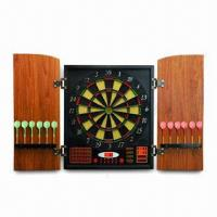 Best Electronic Dart Board with 6 x 12g Darts and MDF Cabinet, Non-toxic and Eco-friendly wholesale