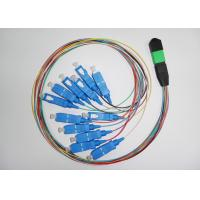 Cheap Data transmission PC , UPC MPO Simplex Fiber Optic Patch Cord with SC connector for sale