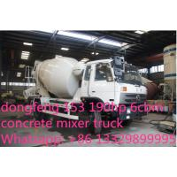 Best dongfeng 153 190hp 6cbm 4*2 small concrete mixer truck for sale wholesale