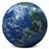 China Fireproof Large Earth Balloons Globe for Weather service , Inflatable Ground Balloon on sale