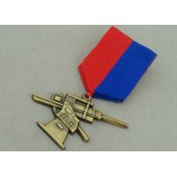 Cheap Antique Gold Awards Medals , Zinc Alloy Die Casting Military 3D Awards Medal for sale