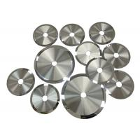 Best 0.6-4.5mm Thickness Tungsten Carbide Slitter Blades For Cutting Metal Materials wholesale