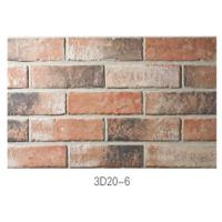 Best 210 * 55 * 12mm Clay Thin Veneer Brick / Thin Brick Veneer Interior Walls wholesale