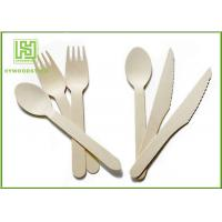 Cheap Food Grade Premium Birch Disposable Eco Friendly Wooden Cutlery Fork Knife Spoon for sale