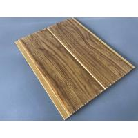 Best 5mm Thickness Ceiling PVC Panels For Kitchen Two Golden Line Wooden Color wholesale