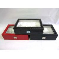 10 / 12 Slots Wooden Watch Boxes Handmade For Shopping Mall Embossing Logo