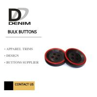 Best Fashion Polyester Bulk Clothing Buttons Black & Red Trims Solution wholesale