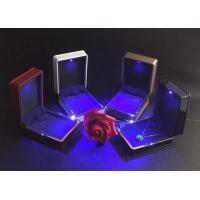 Best Easily Cleaning Jewelry Plastic Box Hot Stamping Logo Printed With LED Light wholesale