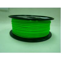 Cheap Green Low Temperature 3D Printer Filament , 1.75 / 3.0mm PCL Filament for sale