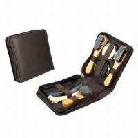 Best Shoe shine set, made of PU leather and wood wholesale