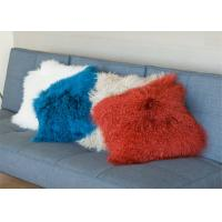 Best Mongolian Real Fur Decorative Cushion Cover Pillow Case for Living Room Bedroom wholesale