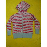 Best Tie Dyed Multi Strips Basic Hooded Zippered Sweatshirt Jackets Rib Cuff Bottom wholesale