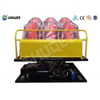 Best 6 Seats Yellow 6-DOF Hydraulic Platform Type 7D Cinema System All the equipment wholesale