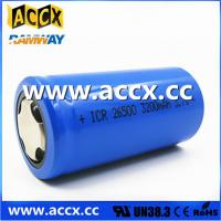 Best rechargeable battery ICR26500 3.7V 3200mAh wholesale