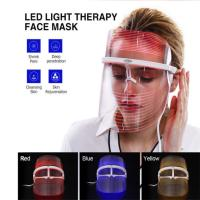 Best Meraif 2019 new colorful led beauty mask for face 3 colors face mask machine Spectrofacial instrument wholesale