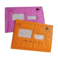 Best Pink Kraft paper  bubble mailers size #5 10.5x16 with window ideal for address label wholesale