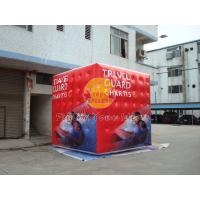Cheap 3.5m attractive filled cube balloon with four sides digital printing for for sale
