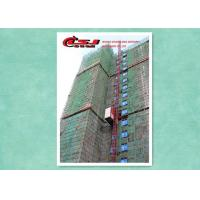 Best Safety Twin Cage Building Material Lift For Construction , Man And Material Hoist wholesale