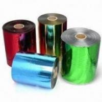 Best 640MM Coloured Foil Rolls For Chocolates , Flat Colorful Hot Foil Roll wholesale
