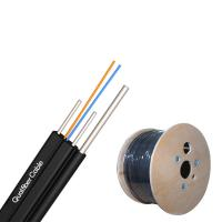 Best FRP Strength FTTH Drop Cable 1/2/4 Core Aerial Outdoor Drop Cable With Messenger wholesale