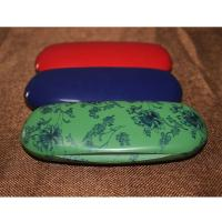 Best Fashion Abs Plastic Kids Eyeglass Case Lightweight Black / Red With Velvet Lining wholesale