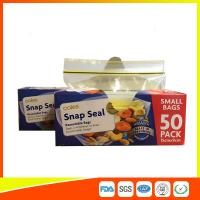 Quality Small Transparent Zip Up Reusable Snack And Sandwich Bags 15 * 9cm wholesale