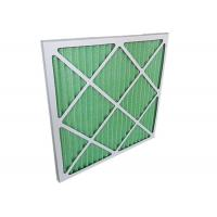 Cheap Low Resistance Pleated Panel Air Conditioner Air Filters HVAC For Primary for sale