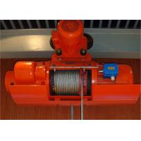 Best High Efficiency Wire Rope Electric Hoist And Trolley , Electric Winches For Lifting wholesale