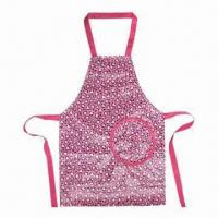 Children's Household Cooking Apron, Made of PVC/Polyester/Cotton/Nonwoven Cover