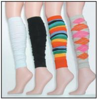 Best 22 Inch Black / White / Rainbow / Camel Argyle long Knitted Leg Warmers For Dancers wholesale